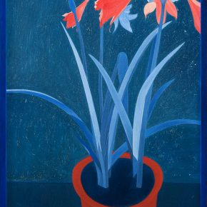 Lan Zhaoxing, Amaryllis Vittata, 2017. Oil on canvas, 35.4 x 23.6 inch ©Lan Zhaoxing, courtesy Fou Gallery.