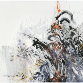 Maggi Hambling, Wall of Water 13, war, 2012; Oil on canvas, 198x226cm; Copyright Maggi Hambling, Courtesy Maggi Hambling Studio