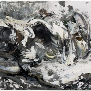 Maggi Hambling, Wave crashing, March, 2009; Oil on canvas, 30x41cm; Copyright Maggi Hambling, Courtesy Maggi Hambling Studio