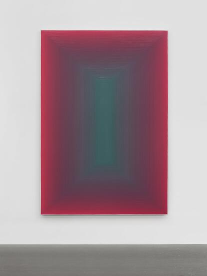 "Wang Guangle 180825 2018 acrylic on canvas 230cm×160cm - Pace Gallery presents ""Wang Guangle: Duo Color"" in New York"