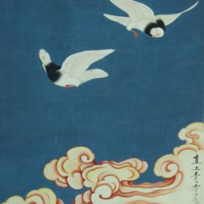 Yu Fei'an, Soaring to the Sky, 1958; Ink and color on paper, 102cm×64cm; Collection of Beijing Fine Art Academy
