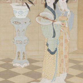Zheng Jin, Grace; Ink and color on silk, 201x109.8cm, Collection of Taipei Palace Museum