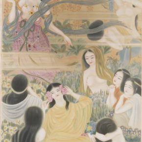 Zheng Jin, Spring Fairy; Ink and color on silk, 258x113cm, Collection of Taipei Palace Museum