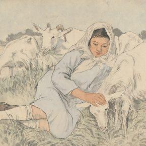 Li Hu, A Shepherdess, 1948