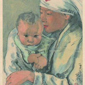 Li Hu, Affection, 1946; Ink and color on paper, 41.5×31.5cm