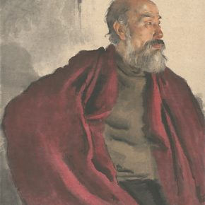 Li Hu, An Old Man in Red, 1956