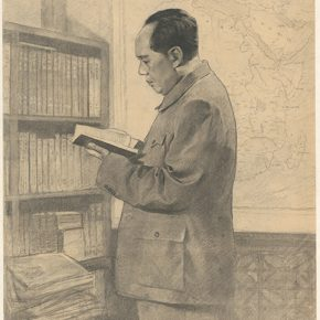 Li Hu, Chairman Mao in His Study, 1967