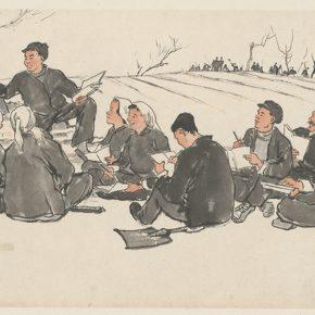 Li Hu, Field Classroom, 1958