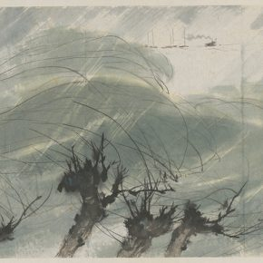 Li Hu, Life-giving Spring Breeze and Rain, 1958
