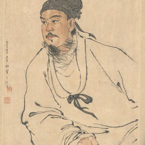 Li Hu, Portrait of Guan Hanqing, 1962