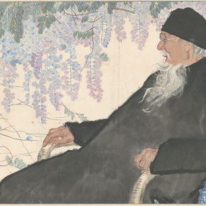 Li Hu, Portrait of Qi Baishi, 1963