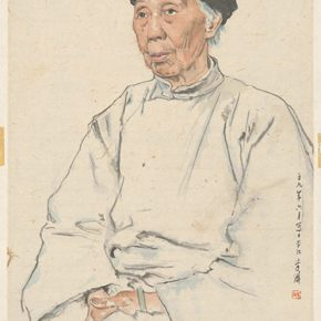Li Hu, Portrait of an Old Lady, 1959