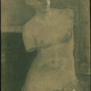 Li Hu Venus Plaster 1950s charcoal pencils on paper 61×42.5cm 290x290 - Li Hu