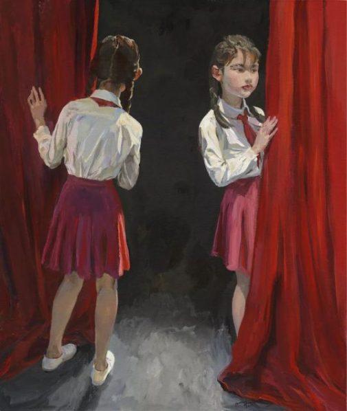 "Yu Hong Half Hundred Mirrors No. 9 2018 Acrylic on canvas 120x100cm 505x598 - The Long Museum presents ""Yu Hong: The World of Saha"" in Shanghai"