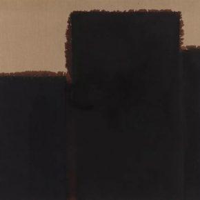 Yun Hyong-keun, Burnt Umber & Ultramarine Blue, 1992; Oil on linen, 130.4x162.4cm