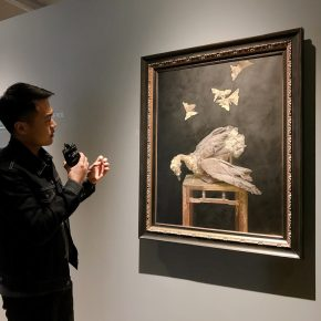 "Cao Kuo introduced his ""Inquiry"" exhibition to audiences"