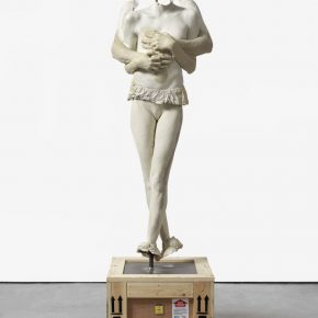 Marc Quinn. All About Love Breathe, 2016-2017; Glass reinforced polyester and biresin polyurethane, stainless steel plate & rod, split shaft collars, soft wood an far eastern ply. 21.3h × 64.5w ×67.5d cm