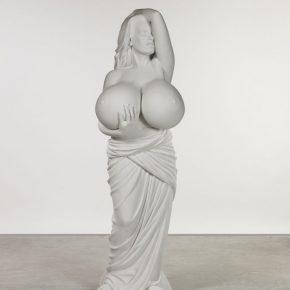 Marc Quinn, Chelsea Charms, 2010; Bianco P marble, 169.5h × 59w × 52d cm