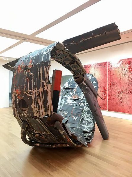 """Adel Abdessemed Unlock 2018 Helicopter and mixed media installation 300x350x350cm 446x598 - Tang Contemporary Art presents """"Unlock"""" featuring the work by Adel Abdessemed in Hong Kong"""