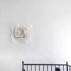 LIN YAN 林延 b. 1961 Jetlag 时差, 2017 Ink, Xuan paper, cotton thread 宣纸、墨和棉线 57 x 83 x 8 cm