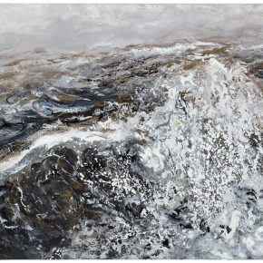 Maggi Hambling_Wave crashing, early morning_Oil on canvas_122x170cm_2017