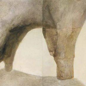 PANG TAO 庞涛 b.1934_Travels in Lijiang I 漓江行之一, 1981_Oil on canvas 布面油画_68 x 120 cm