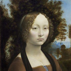Leonardo da Vinci (Florentine, 1452 - 1519), Ginevra de' Benci [obverse], c. 1474/1478, oil on panel, Ailsa Mellon Bruce Fund 1967.6.1.a