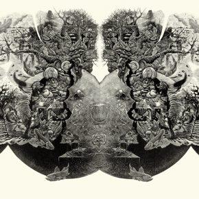 小林敬生 Keisei Kobayashi 漂泊 No.10C Space Wonder Land No.10C 图心 41.5x97cm 图纸 68x106cm 木口木刻版画 Wood Engraving 1984 290x290 - Right Place Right Time—Artworks by Keisei Kobayashi & Chen Qi will be presented at Asia Art Center
