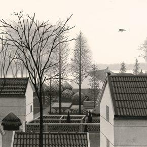 陈琦Chen Qi 风景图式 Scenery Schema 52x76cm 水印版画 Woodblock Print 1998 290x290 - Right Place Right Time—Artworks by Keisei Kobayashi & Chen Qi will be presented at Asia Art Center