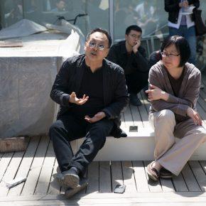 Artist Wang Gongxin and scholar Song Xiaoxia