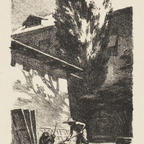 Song Yuanwen, Moving Sunlight, 1956; lithograph, 26×15cm