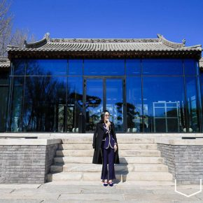Ms. Wang Rui, Vice President of Huayi Art Co., who is the co-ordinator of the exhibition, and the Curator of the Song Art Museum