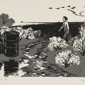 Song Yuanwen, Early Spring, 1963; woodblock printing, 55×36cm