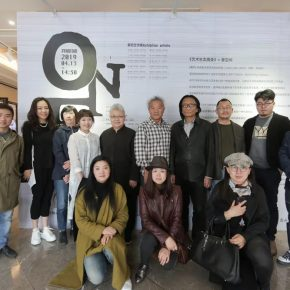 """06 The Group Photo of Honored Guests 290x290 - One Story in """"ONE EXHIBITION""""—ART WALK: Behind the Scenes was launched in Hui Art Space"""