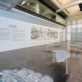 Exhibition View of Qiu Zhijie Mappa Mundi
