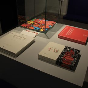 Exhibition View Qiao Xiaoguang's Monographs and Publications edited by him.