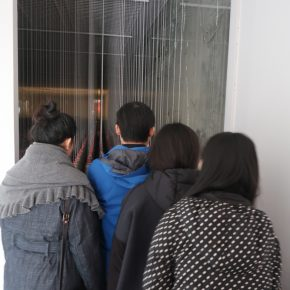 "14 Visitors at the Exhibition of""Absolute Control II"" 290x290 - Thoughts on the Destiny of Land: Liu Haigang's ""Absolute Control II"" was unveiled at Wu Xun Gallery"
