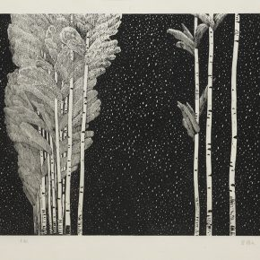 17 Song Yuanwen, Winter Climate, 2005; black and white woodcut, 46×70cm