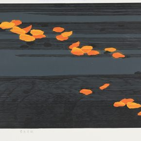 19 Song Yuanwen, Wind, 2014; colored woodcut, 46×80cm