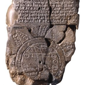 The map drawn by ancient Sumerians