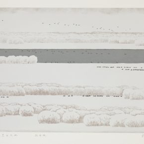 24 Song Yuanwen, Black and White Heaven and Earth, 2010; silkscreen print, 50×75cm