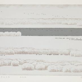 Song Yuanwen, Black and White Heaven and Earth, 2010; silkscreen print, 50×75cm