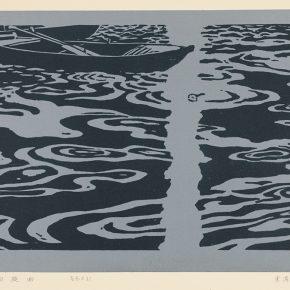Song Yuanwen, Rondo, 1989; colored woodcut, 43×67cm