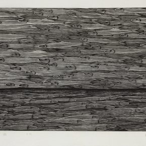 28 Song Yuanwen, Migration, 2005; black and white woodcut, 46×74cm
