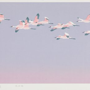 Song Yuanwen, The Rising Sun, 2013; silkscreen print, 50×83cm