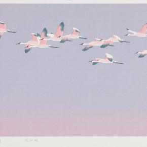 56 Song Yuanwen, The Rising Sun, 2013; silkscreen print, 50×83cm
