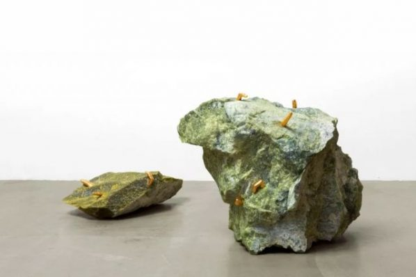 "Cao Yu Yeah I am Everywhere 2019 green marble cast copper with 24k gold plating 20x62x42cm 54x70x40cm 598x398 - Galerie Urs Meile presents ""Cao Yu: Femme Fatale"" in Lucerne"