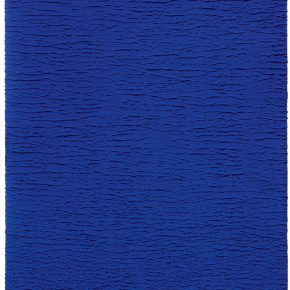Yves Klein, Untitled Blue Monochrome (IKB 67), 1959, Dry pigment and synthetic resin on gauze mounted on panel, 92 x 73 cm. © Yves Klein Estate, ADAGP, Paris / SACK, Séoul, 2019.