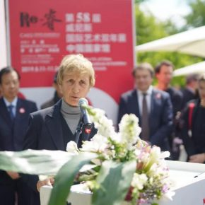 Ms. Fincato Laura, President of Airiminum, was giving a speech (Photographed by Yin Weilin)