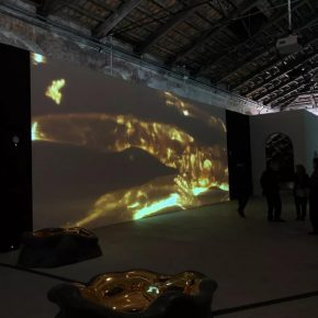 Exhibition scene of The Name of Gold by artist Geng Xue (Photographed by Liu Dapeng)